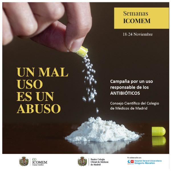 Campaña ICOMEM abuso antibióticos